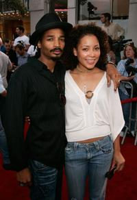 Eddie Steeples and Baola at the premiere of