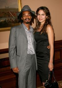 Eddie Steeples and Nadine Velazquez at the cocktail reception of 2006 Summer TCA Awards.