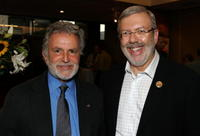 Leonard Maltin and Sid Ganis at the Academy of Motion Picture Arts and Sciences Centennial Salute to composer Miklos Rozsa.