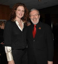 Leonard Maltin and Angelique Pitney at the premiere of the restored 3D classic