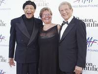 Al Jarreau, Claude Mann and Alfred Mann at the Alfred Mann Foundation's Second Annual Evening of Innovation and Inspiration.