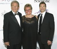 Alfred Mann, Claude Mann and Ryan Seacrest at the Alfred Mann Foundation's Second Annual Evening of Innovation and Inspiration.
