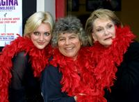 Miriam Margolyes, Sophie Dahland and Sian Phillips at the cast of the West End show '