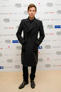Luke Treadaway at the English National Ballet Christmas party in England.