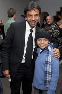 Eugenio Derbez and Adrian Alonso at the after party of