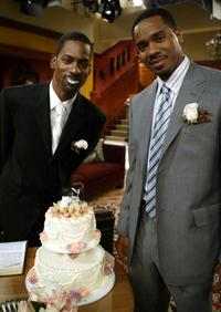 Tony Rock and Duane Martin at the UPNs All Of Us Special Wedding Episode.