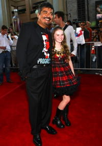 George Lopez and Madeline Carroll at the world premiere of