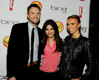 Joel McHale, Victoria Justice and Giuliana Rancic at the California premiere of