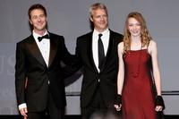 Edward Norton, Neil Burger and Eleanor Tomlinson at the premiere of