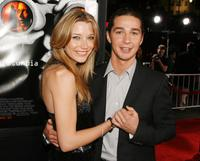 Sarah Roemer and Shia LaBeouf at the premiere of
