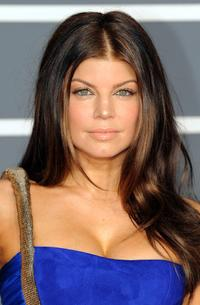 Fergie at the 52nd Grammy Awards.