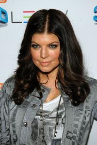 Fergie at the Samsung 3D LED TV launch party.