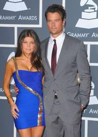 Fergie and Josh Duhamel at the 52nd Annual Grammy Awards.