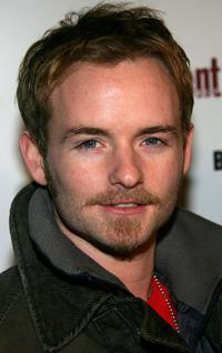 Christopher Kennedy Masterson at the Entertainment Weekly party.