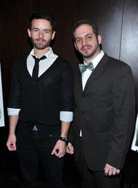 Christopher Kennedy Masterson and Daryl Goldberg at the premiere of