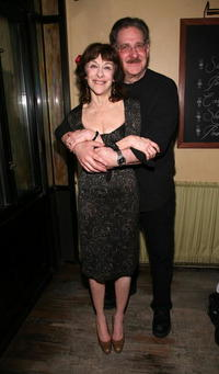 Richard Masur and Laura Esterman at the New Group opening of
