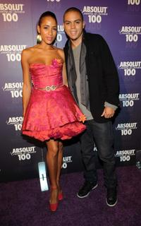 Dania Ramirez and Evan Ross at the Kanye West and ABSOLUT After Party.