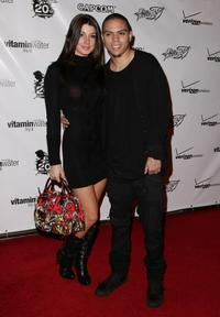 Evan Ross and Guest at the launch party of