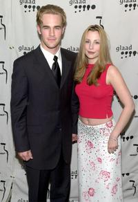 James Van Der Beek and Heather McComb at the GLAAD Awards.