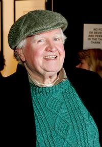 Malachy McCourt at the opening of