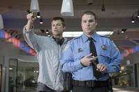 Director Jody Hill and Seth Rogen on the set of