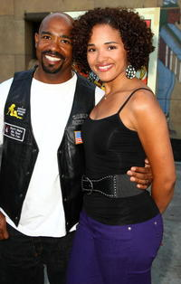 Michael Beach and Guest at the premiere of