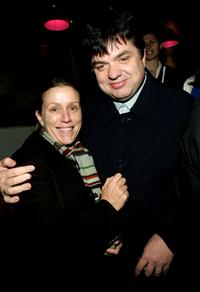 Frances McDormand and Oliver Platt at the Kitchen Sisters at Galleria Illy.