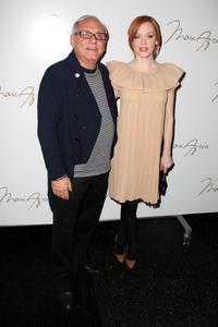 Rose McGowan and Max Azria at the Max Azria 2008 fashion show during Mercedes-Benz Fashion Week Fall 2008.