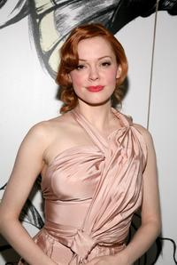Rose McGowan at the Prada party during Mercedes-Benz Fashion Week Fall 2008.