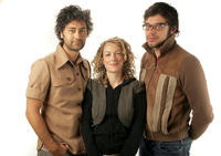 Taika Waititi, Loren Horsley and Jemaine Clement at the portrait session of