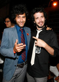 Taika Waititi and Bret McKenzie at the after party of the New York premiere of