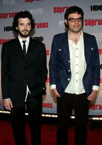Brett McKenzie and Jemaine Clement at the premiere of