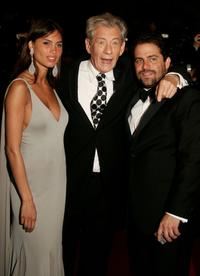 Sir Ian McKellen and Brett Ratner at the premiere of