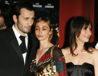 Emmanuelle Beart, Michael Cohen and Geraldine Pailhas at the premiere of