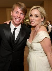 Jack McBrayer and Jane Krakowski at the 66th Annual Golden Globe Awards.
