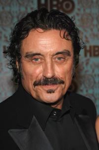 Ian McShane and wife Gwen Humble at the HBO Emmy after party.
