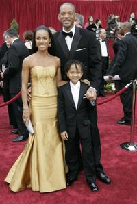 Jada Pinkett Smith, Will Smith and Jaden Smith at the 79th Annual Academy Awards.