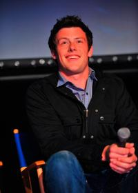 Cory Monteith at the Q & A session during the GLEE premiere event screening.