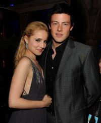 Dianna Agron and Cory Monteith at the premiere of
