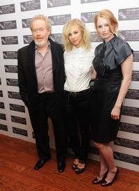 Ridley Scott, Juno Temple and Jordan Scott at the premiere of