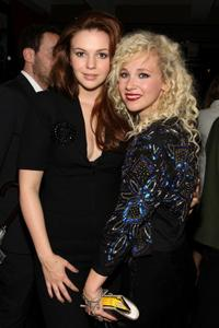 Amber Tamblyn and Juno Temple at the after party of the New York premiere of