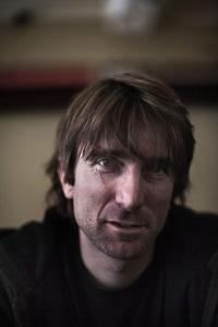 Sharlto Copley at the Longstreet cafe in Cape Town.
