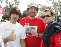 Demetri Martin, Brian Posehn and Guest at the WGA West Strike.