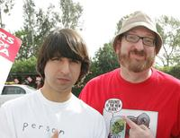 Demetri Martin and Brian Posehn at the WGA West Strike.
