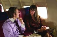 Michael Sheen as David Frost and Rebecca Hall as Caroline Cushing in