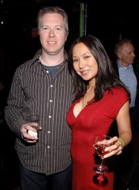 Director Paul Fox and Steph Song at the premiere of