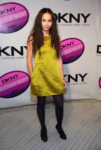 Zoe Kravitz at the DKNY Delicious Night fragrance launch party.