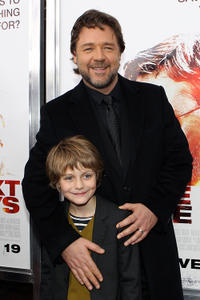 Ty Simpkins and Russell Crowe at the  New York premiere of