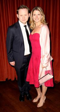 Michael Jibson and Caroline at the world premiere of
