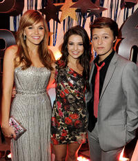 Aimee Teegarden, Danielle Campbell and Nolan Sotillo at the after party of the California premiere of